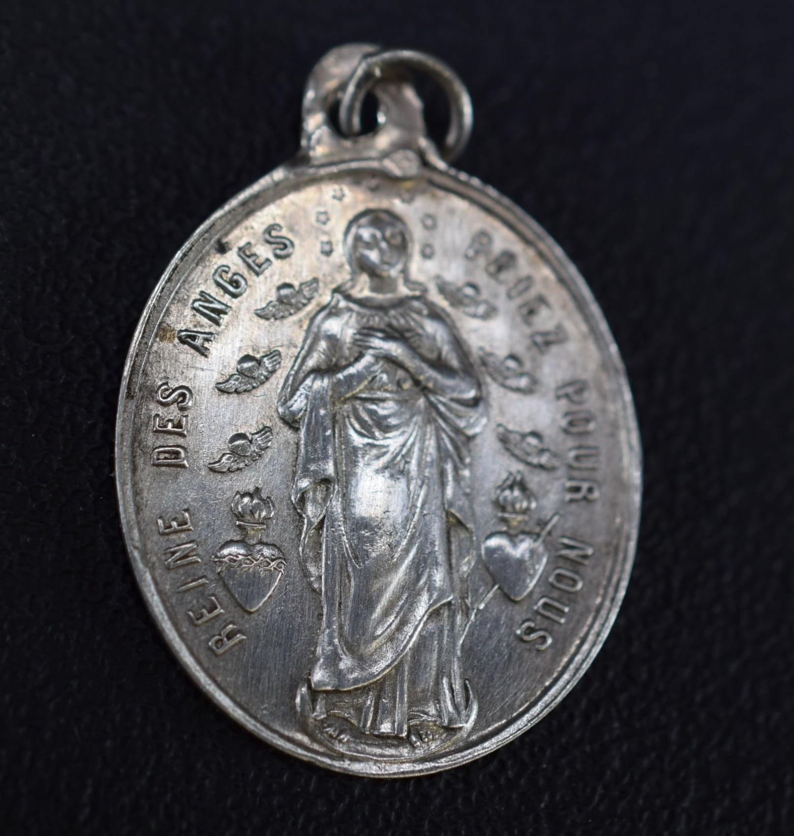 Queen of Angels Mary Sterling Silver Pendant