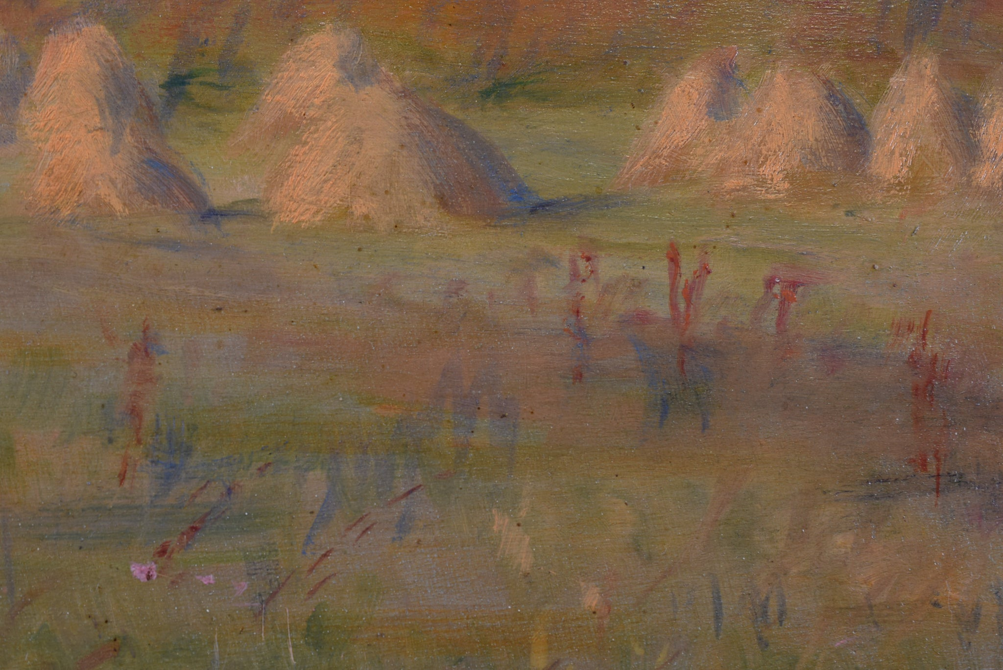 Impressionist Oil Painting Haystack Monet