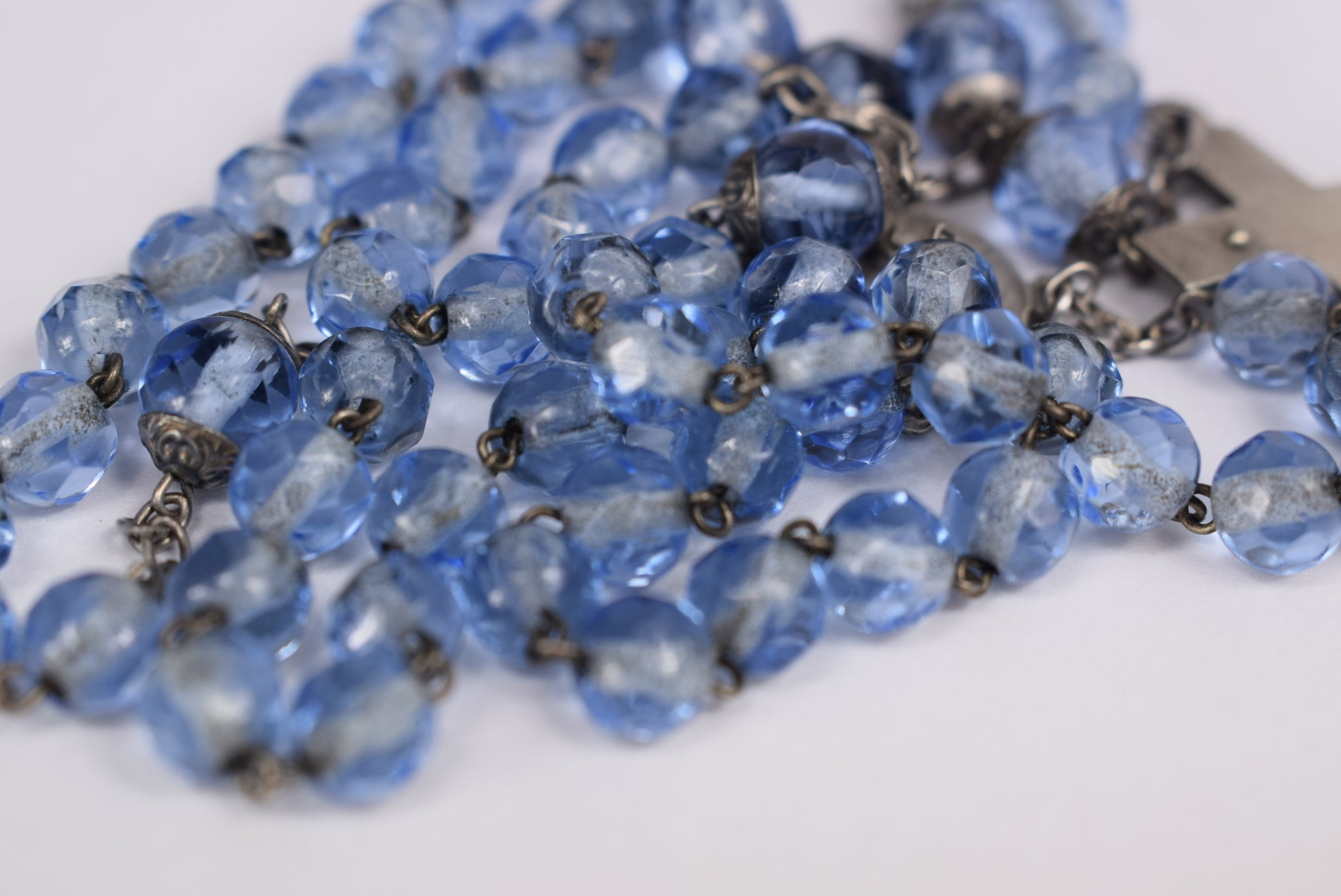 Blue Capped Rosary - Charmantiques