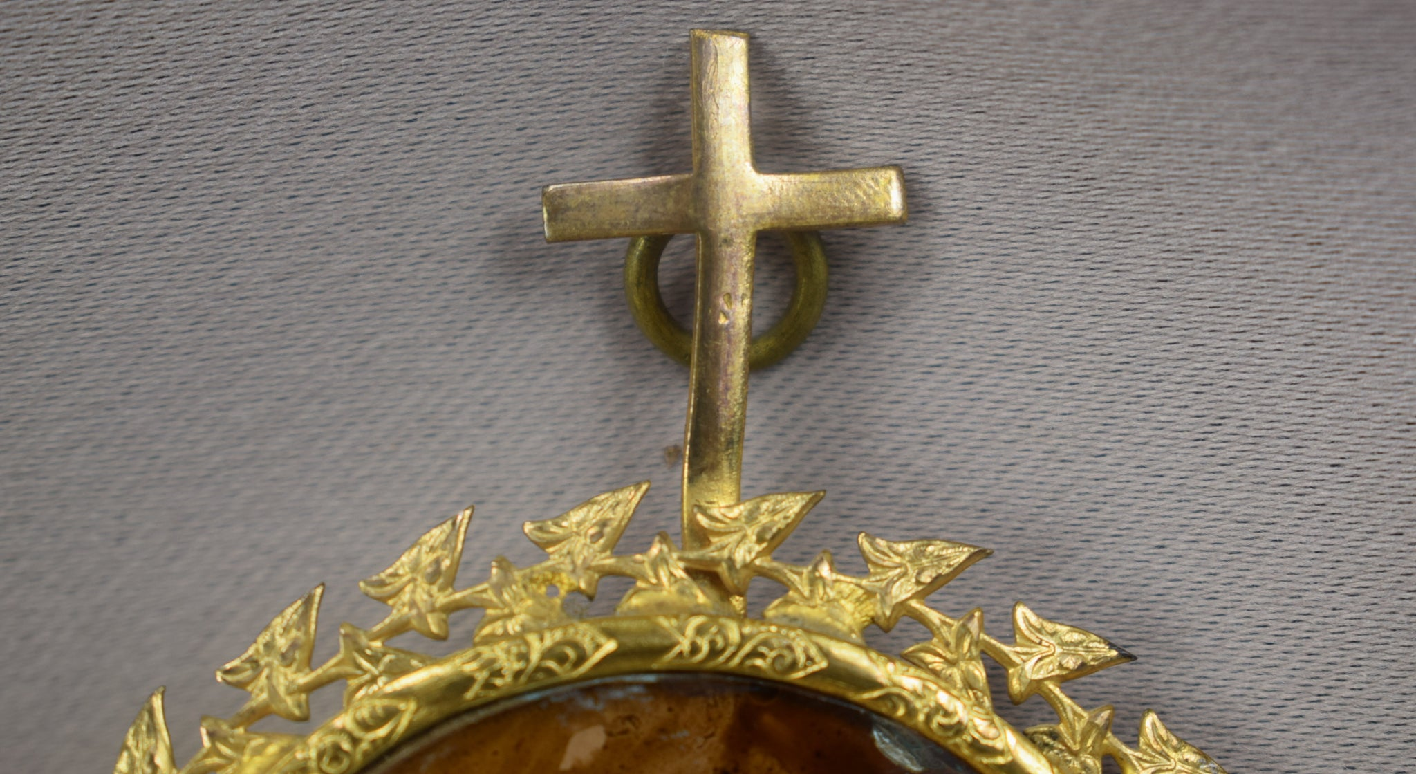 Lourdes Eglomise Holy Water Font