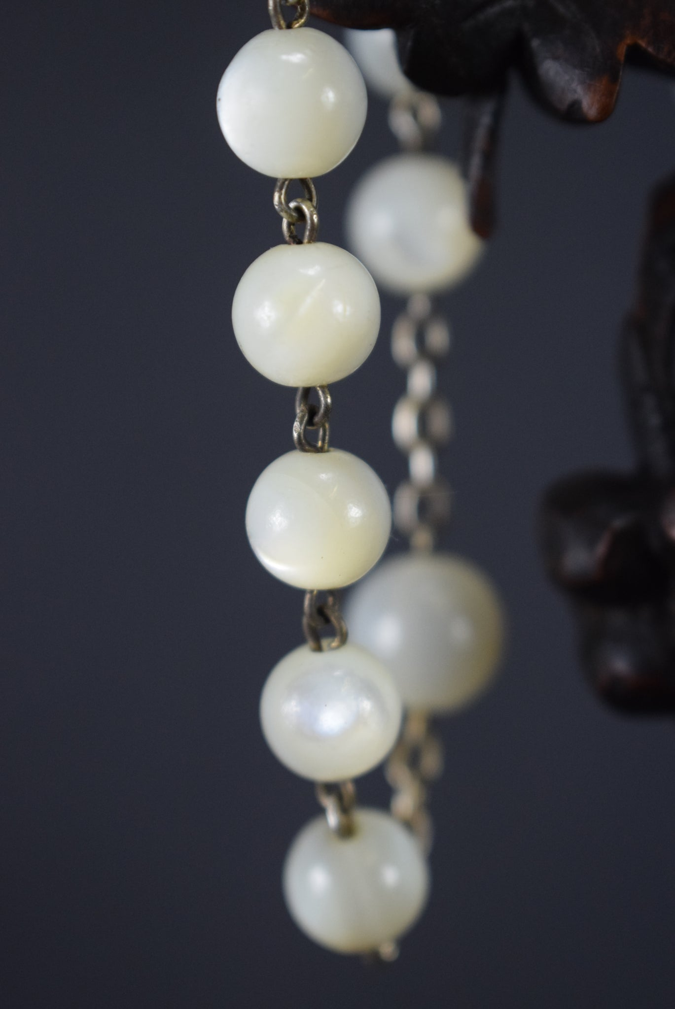 Gold Mother of Pearl Rosary
