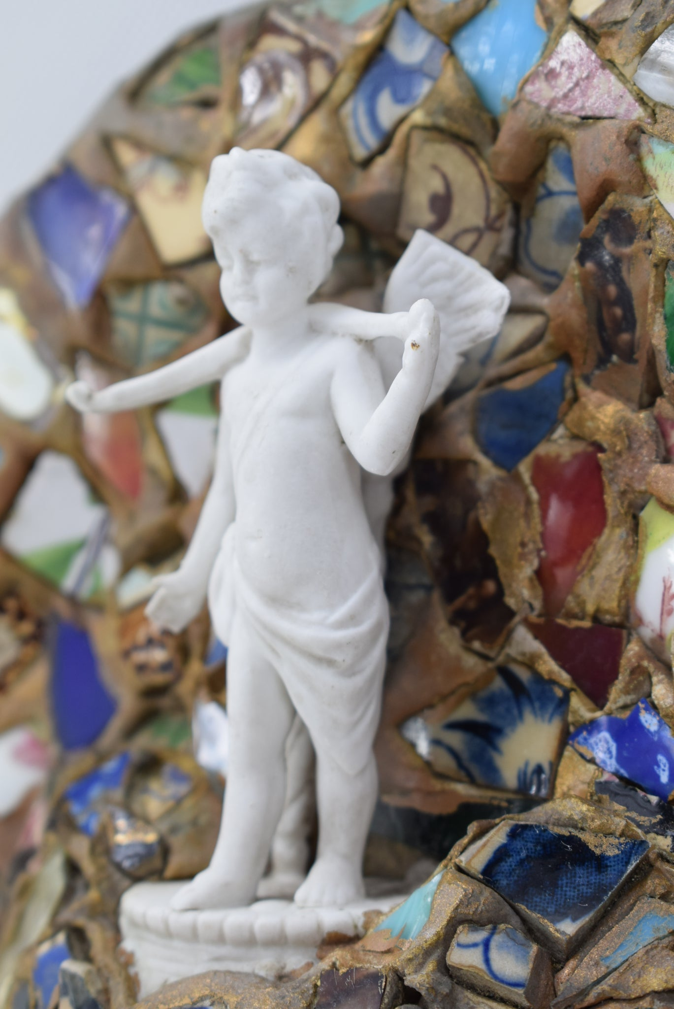 Mosaic and Angel Wall Plate - Charmantiques