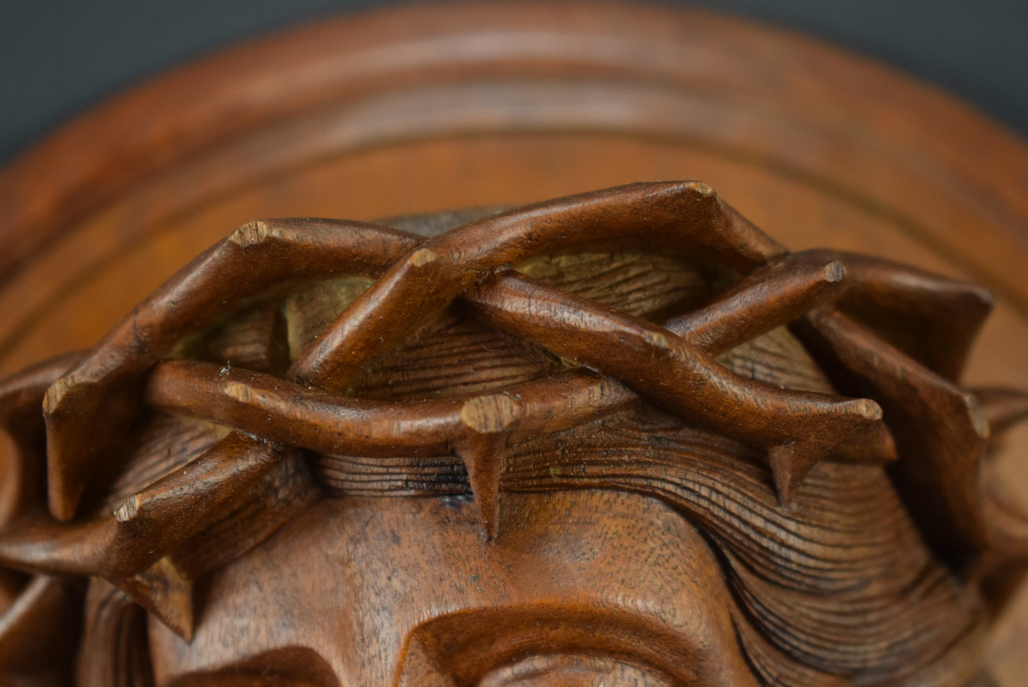 Carved Wood Holy Face - Charmantiques