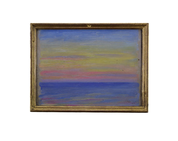 Impressionist Small Oil Painting Sunset Seaside Drivon 1919