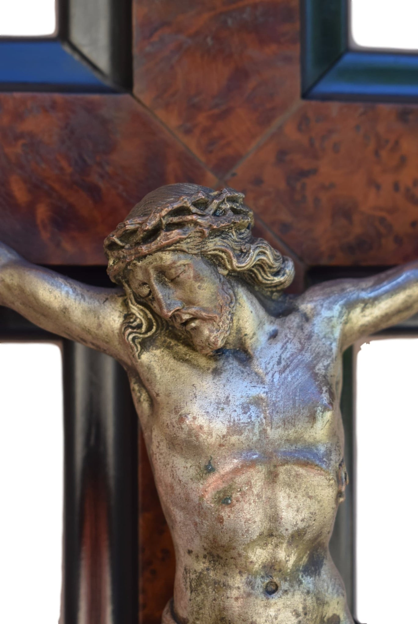 Antique Altar Crucifix - Charmantiques