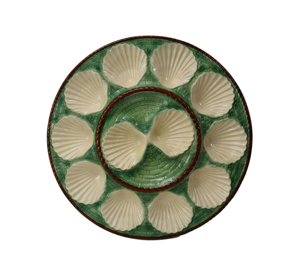 Green Oyster Platter - Charmantiques