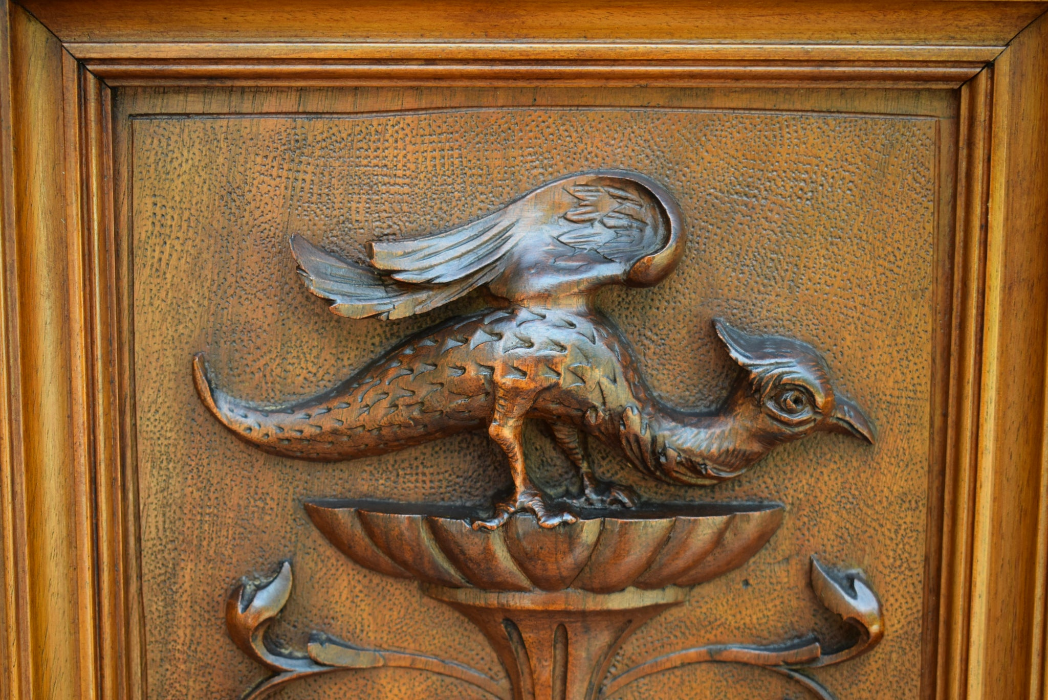 Griffin Carved Door - Charmantiques