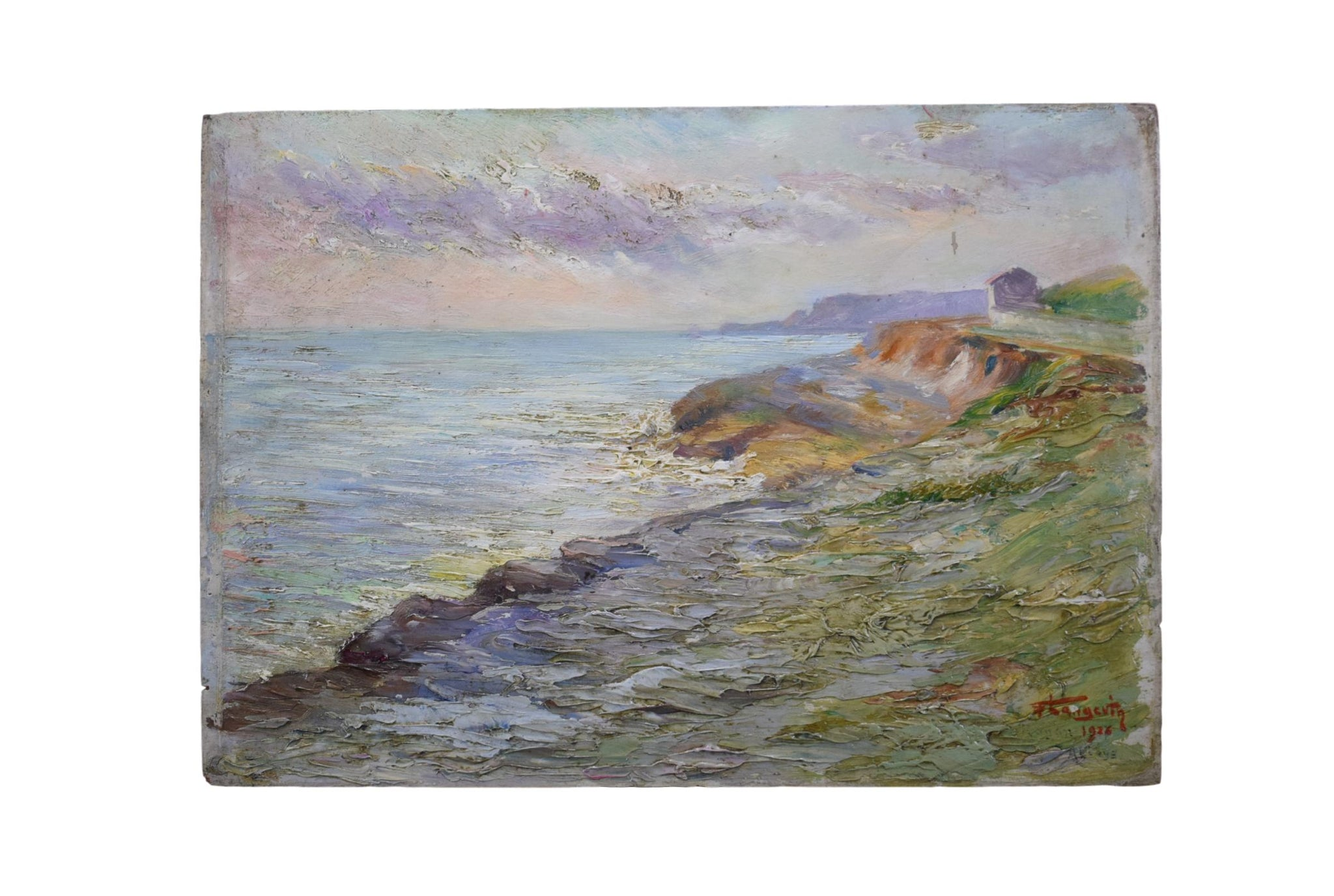 Seaside Painting 1926 - Charmantiques