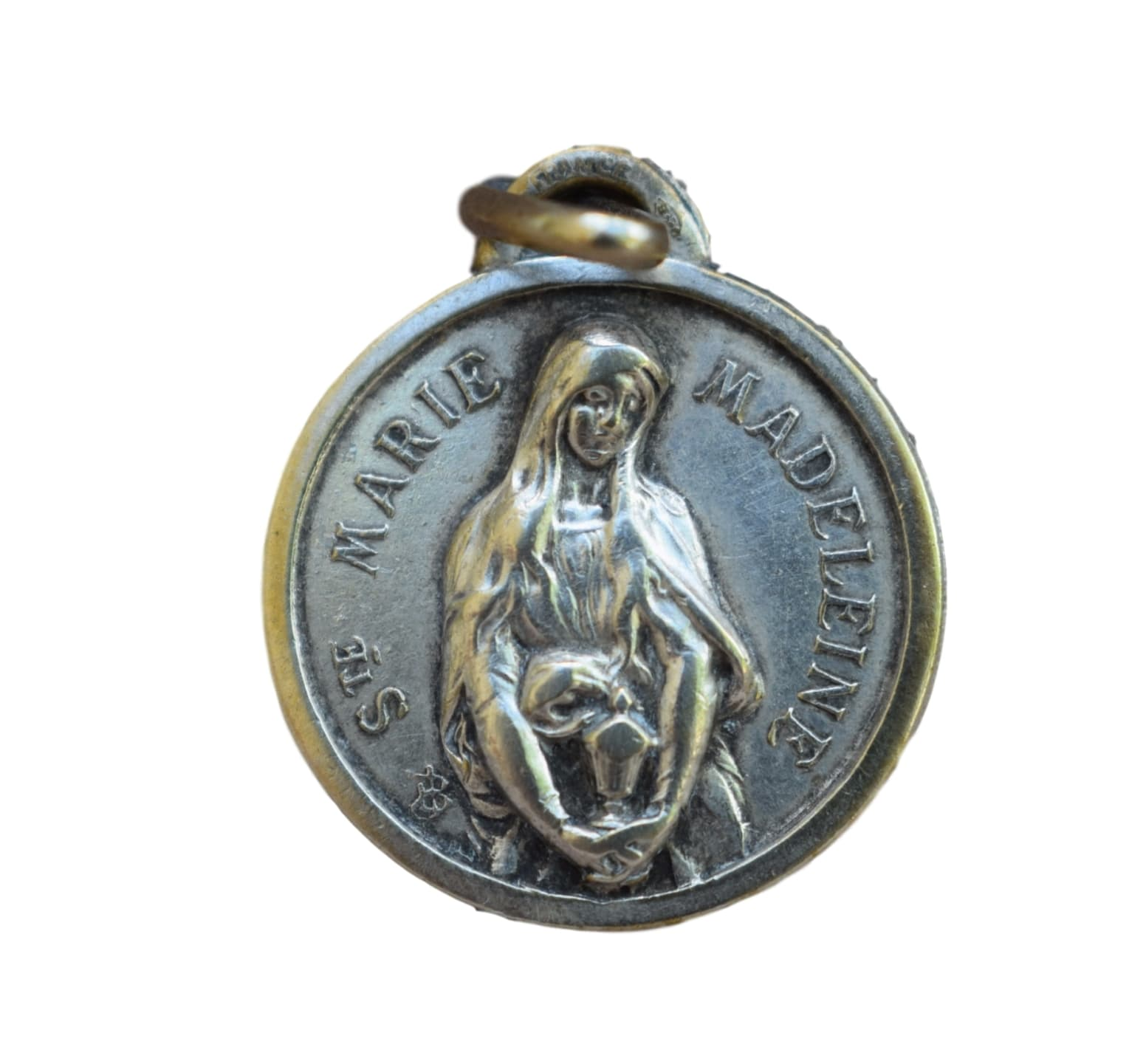 Saint mary magdalene medal french religious antique pendant charm saint mary magdalene medal french religious antique medal pendant charm maria magdalena sainte mozeypictures Gallery