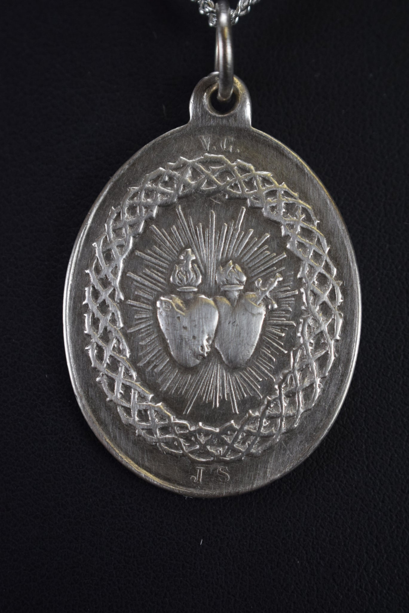 Mary and Jesus Sacred Hearts Medal - Charmantiques