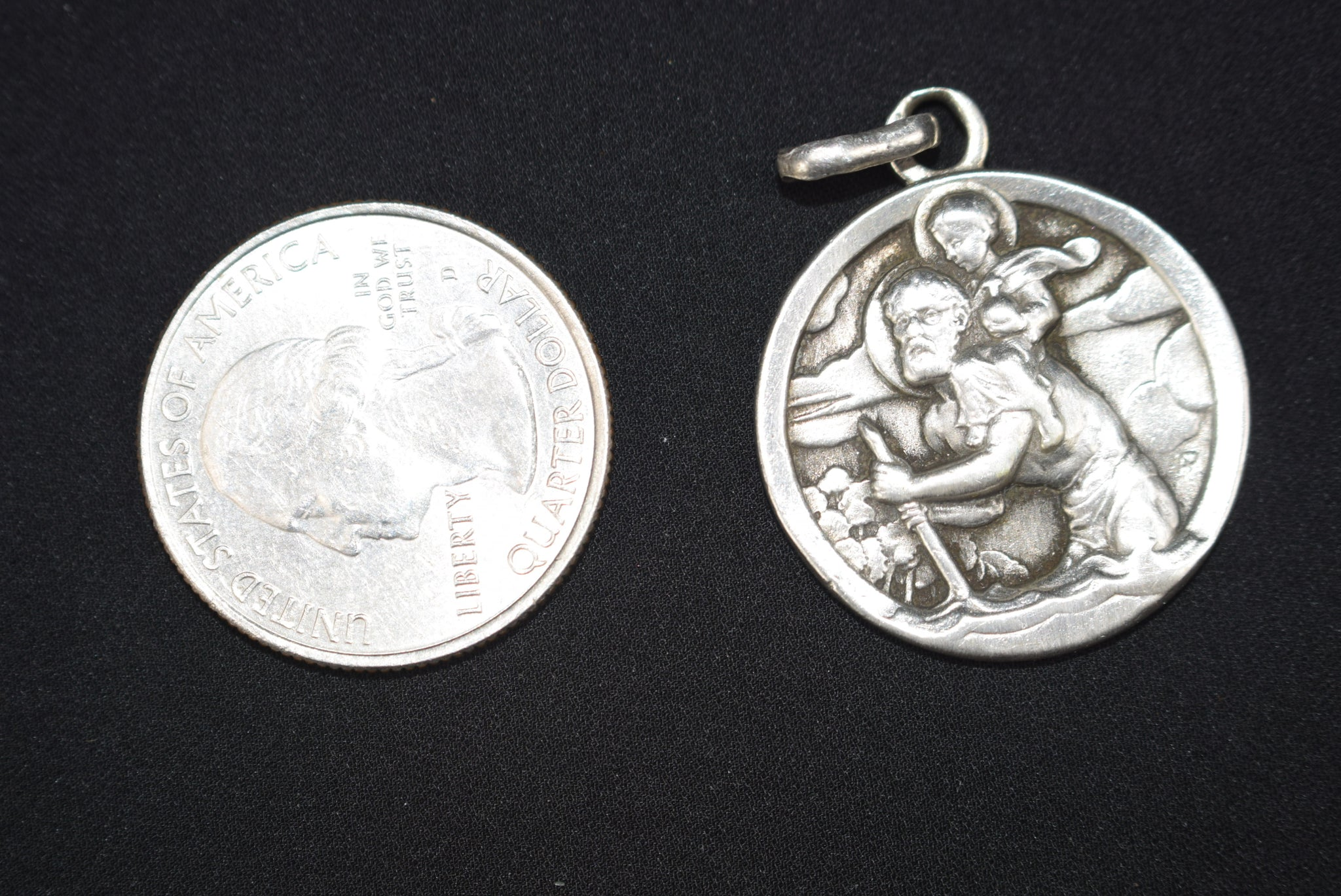 Large St Christopher Medal