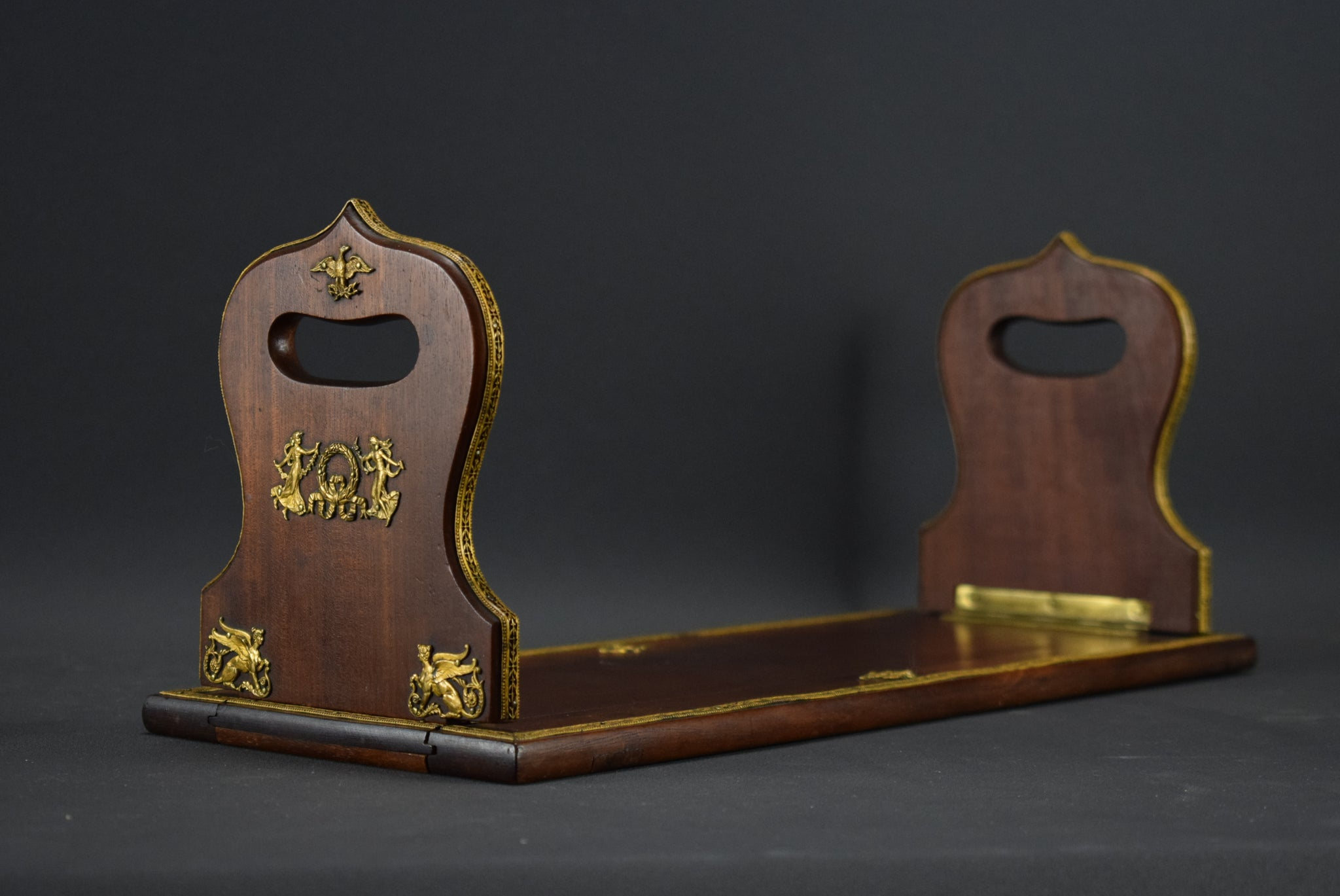 Empire Wood Bookends - Charmantiques