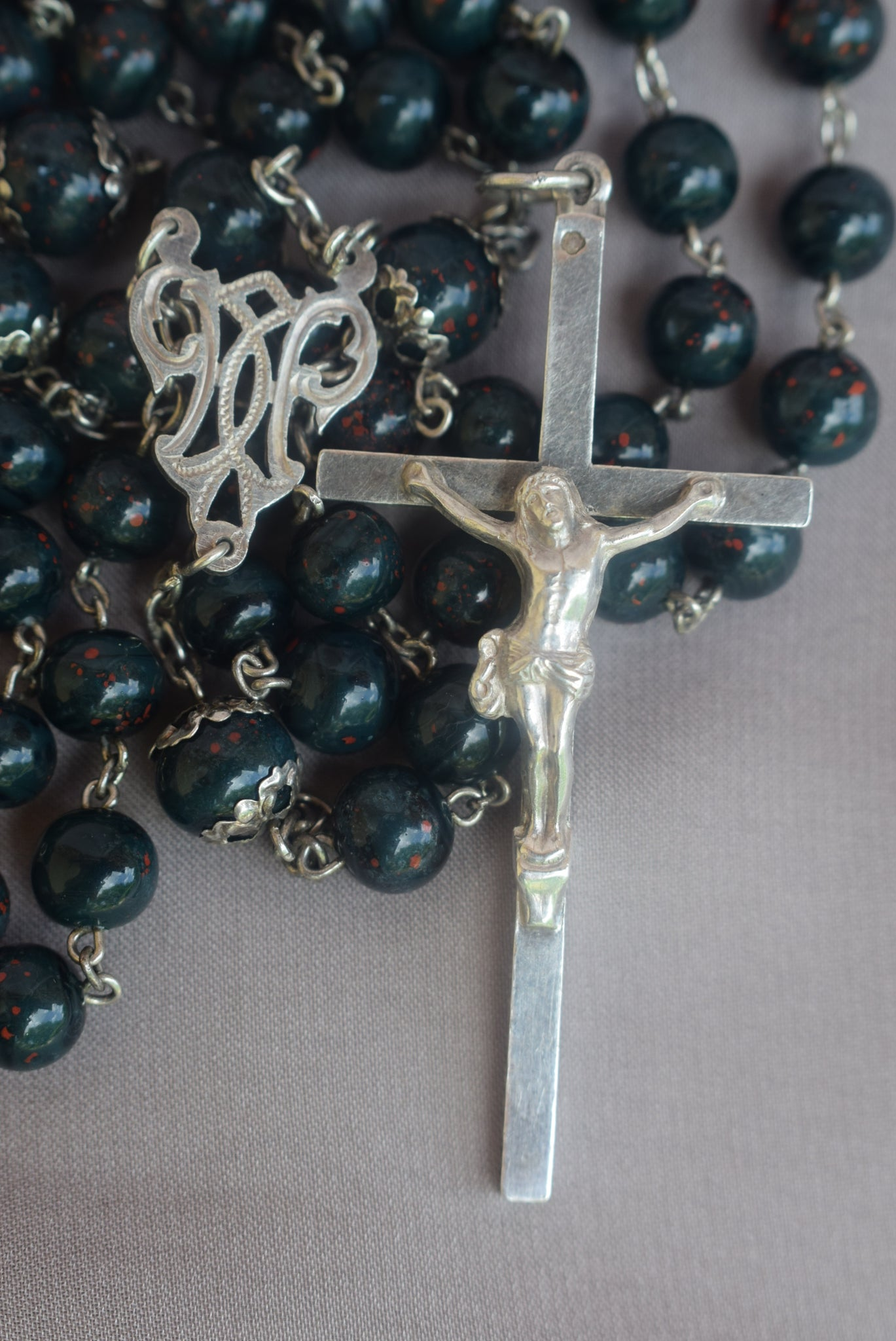 Large Bloodstone Rosary - Charmantiques
