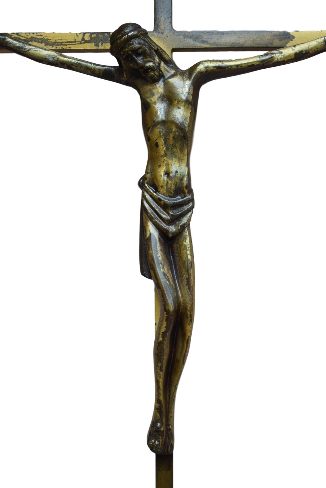 Large Bronze Cross - Charmantiques
