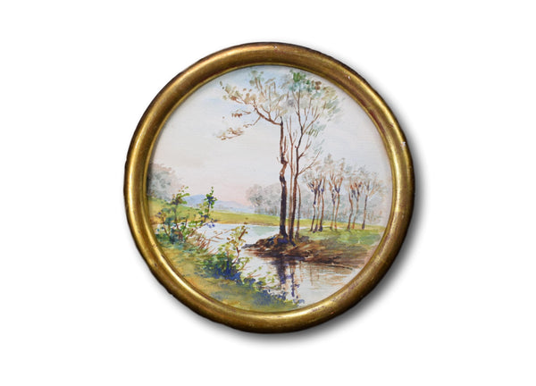 Watercolor Medallion - Charmantiques