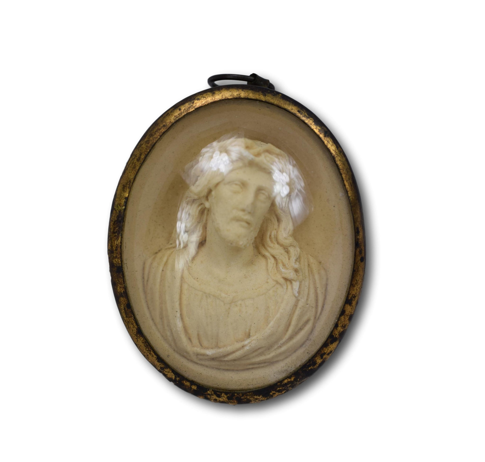 Jesus Antique Medallion - Charmantiques