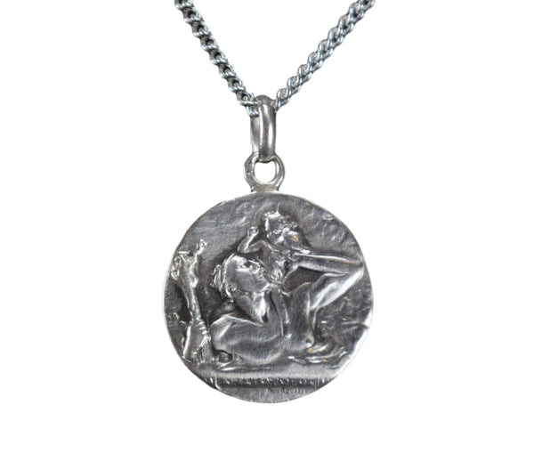 St Christopher Pendant by Paul Roussel - Charmantiques