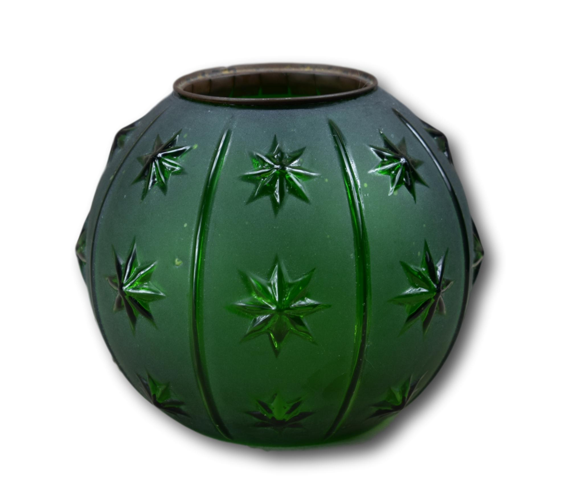 Green Stars Oil Lamp Shade - Charmantiques