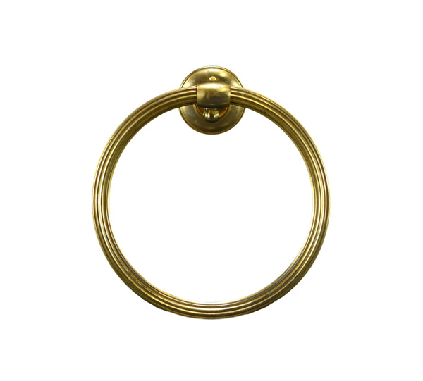 French Vintage Brass Wall Towel Ring Holder Bathroom Kitchen