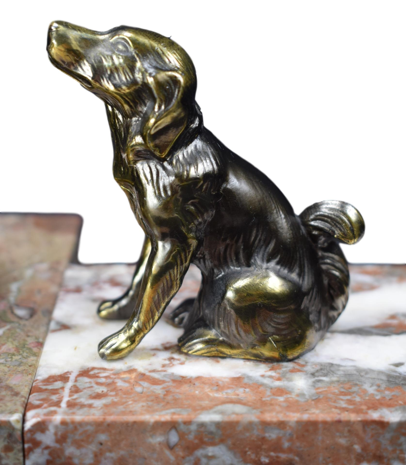 Art Deco Dog Bookends - Charmantiques