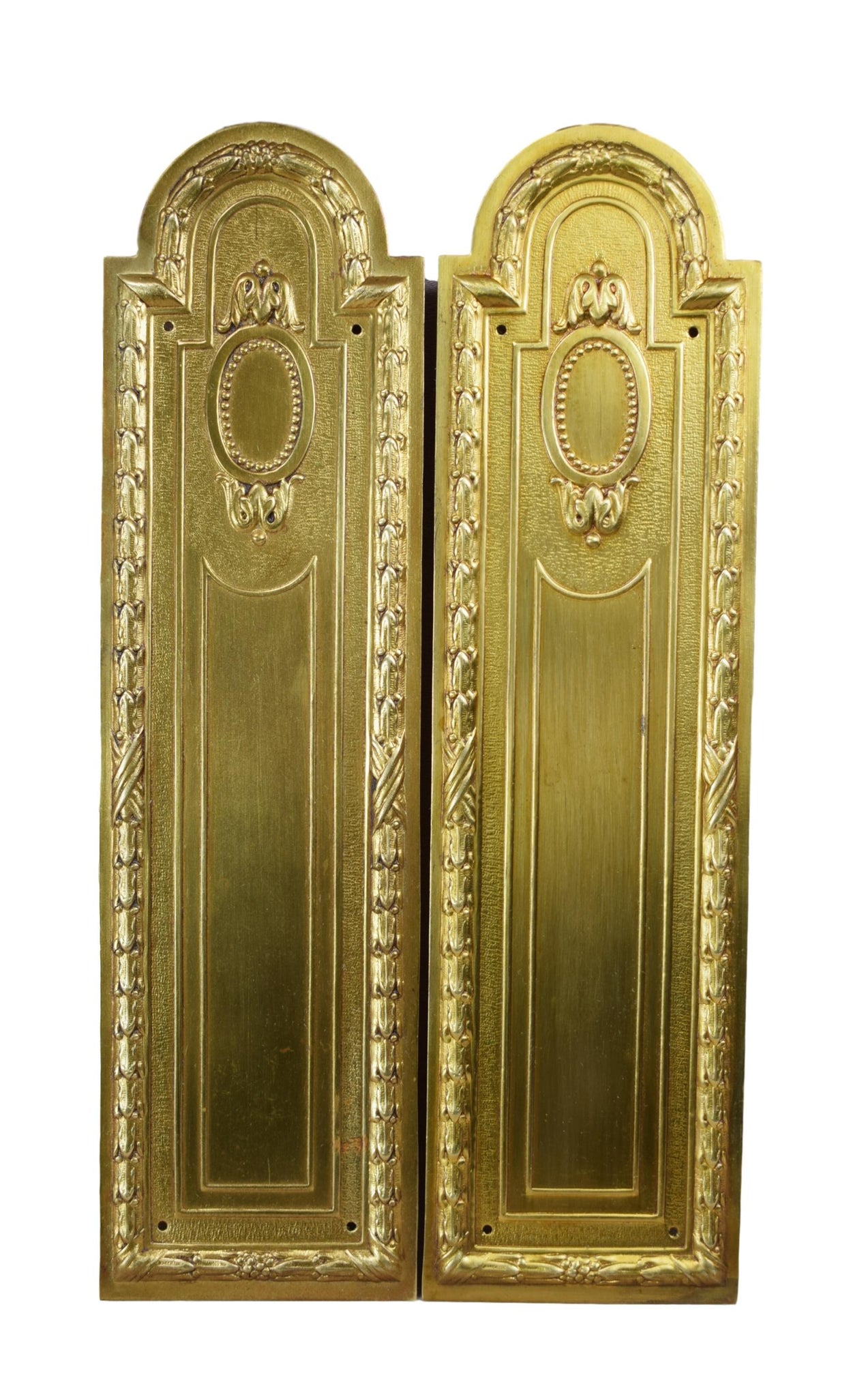Pair of Door Push Plates - Charmantiques