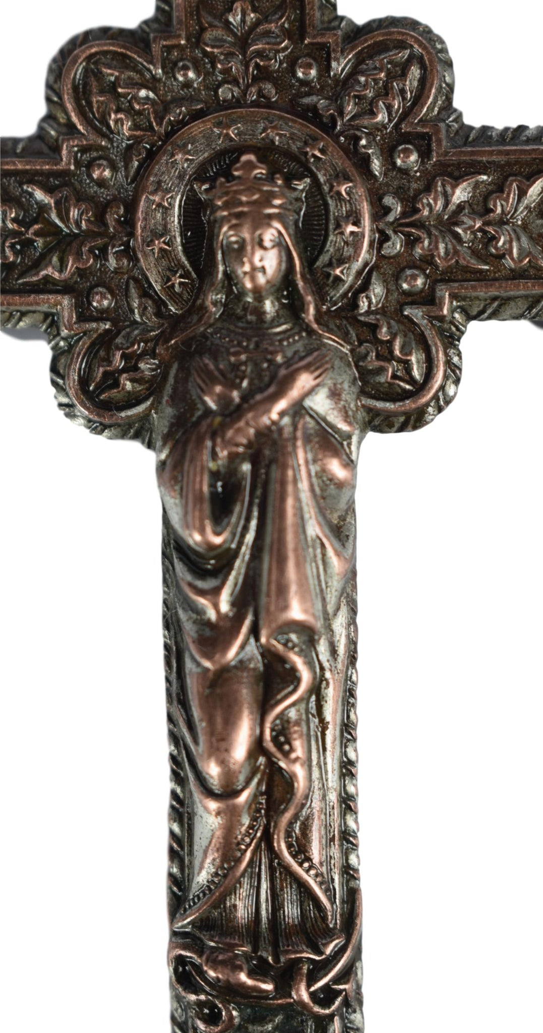Crowned Jesus & Mary Cross - Charmantiques