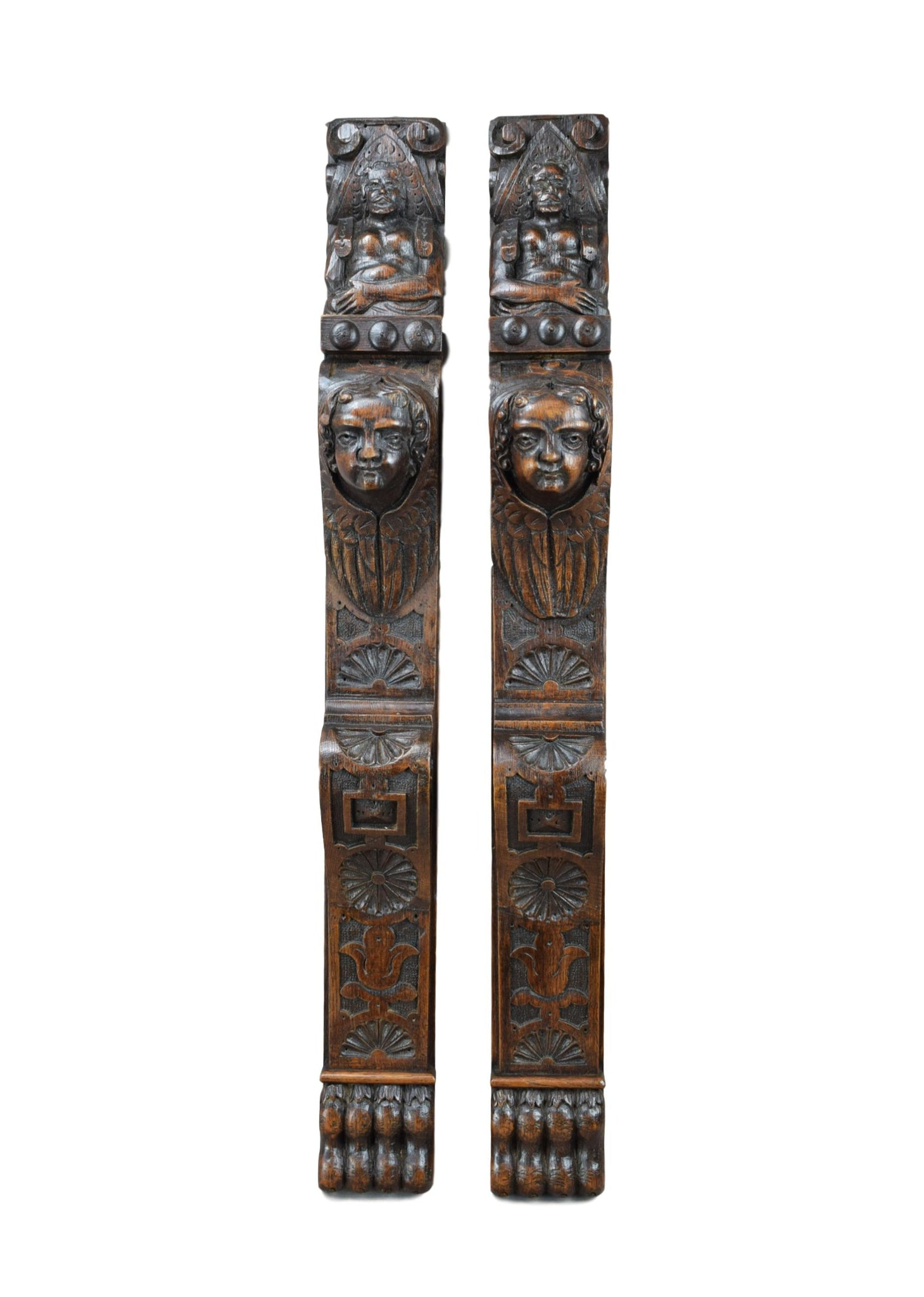 Cherub Pair of Posts Pillars - Charmantiques