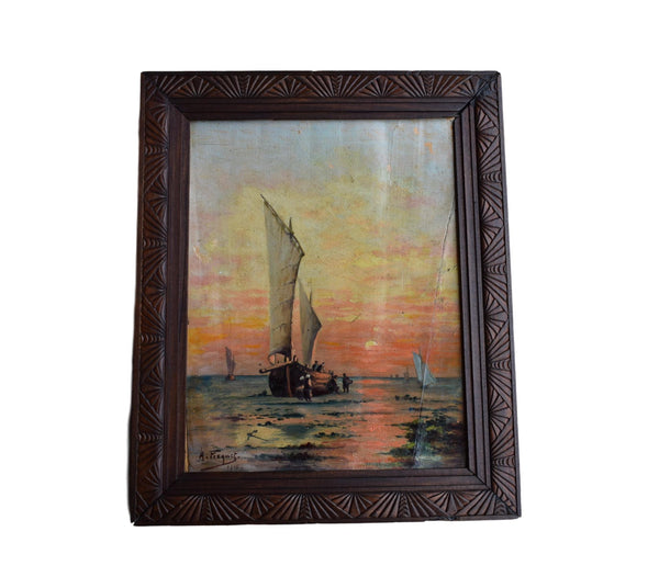 Antique Seascape - Charmantiques