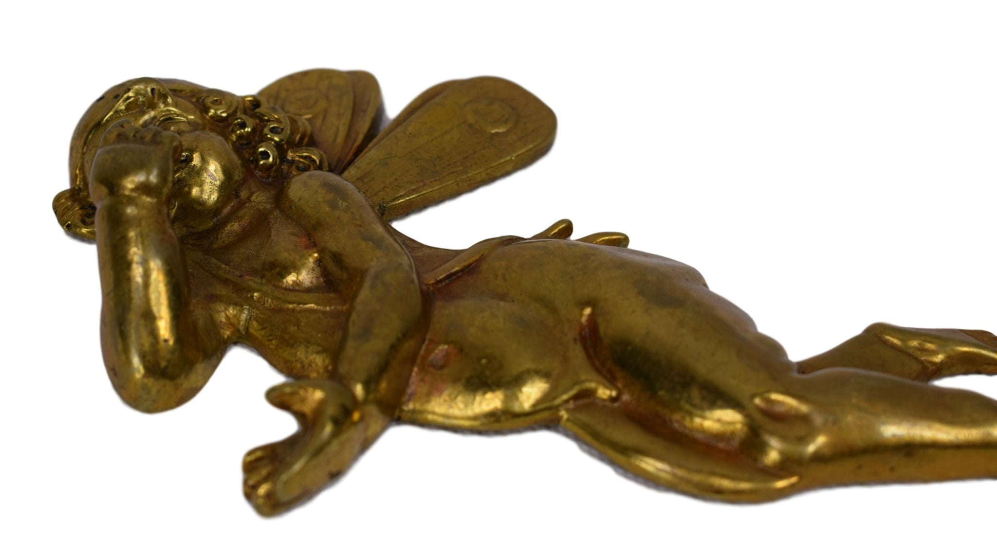 Pair of Bronze Angels - Charmantiques