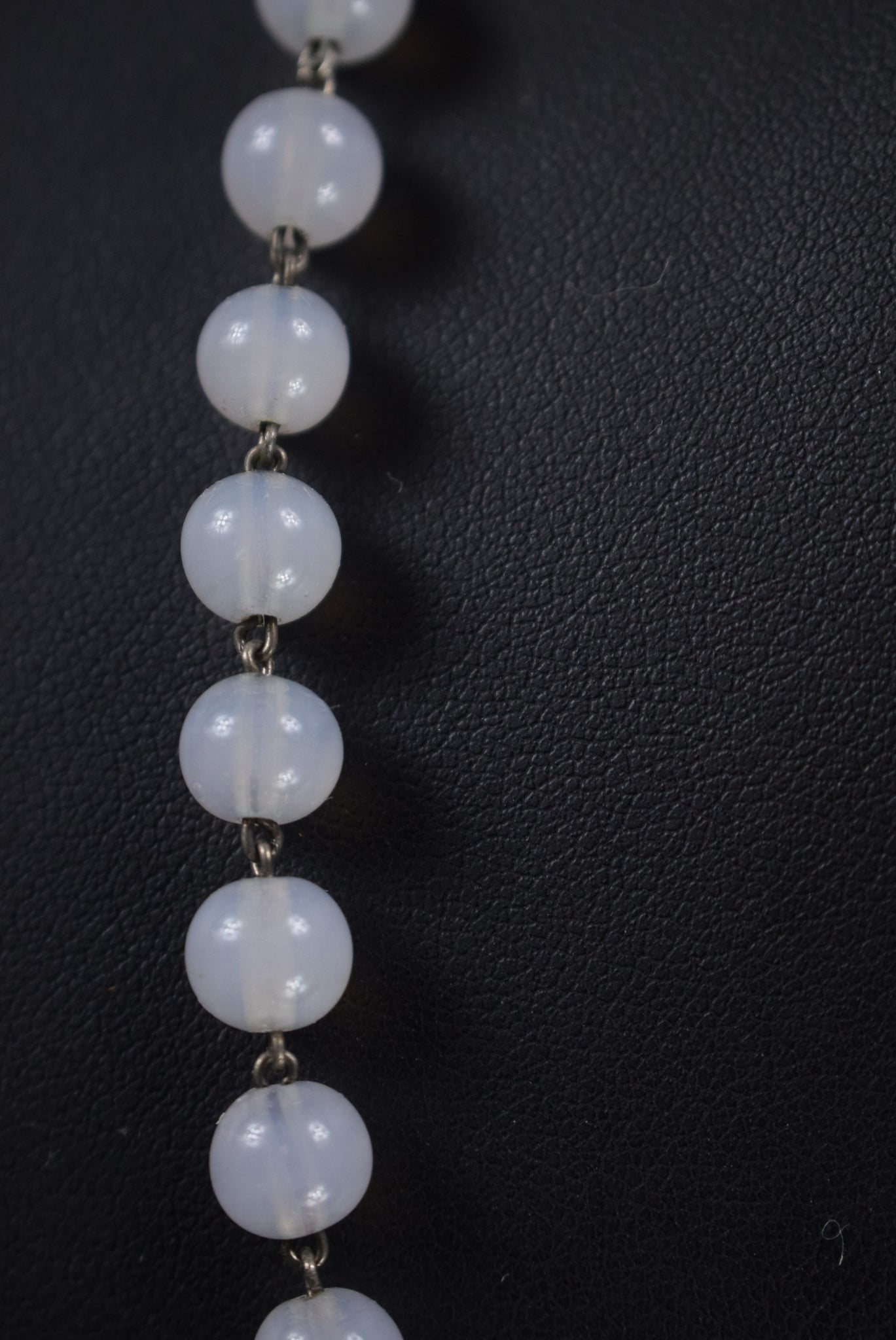 Opaline Silver Rosary - Charmantiques