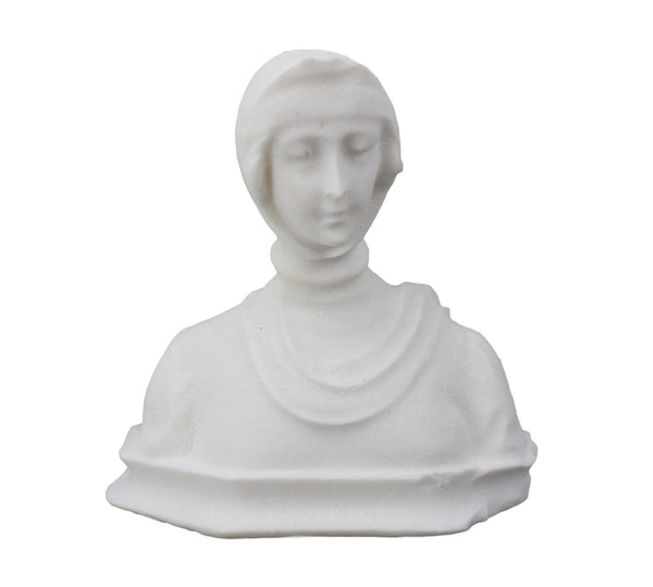 Carved Stone Bust - Charmantiques