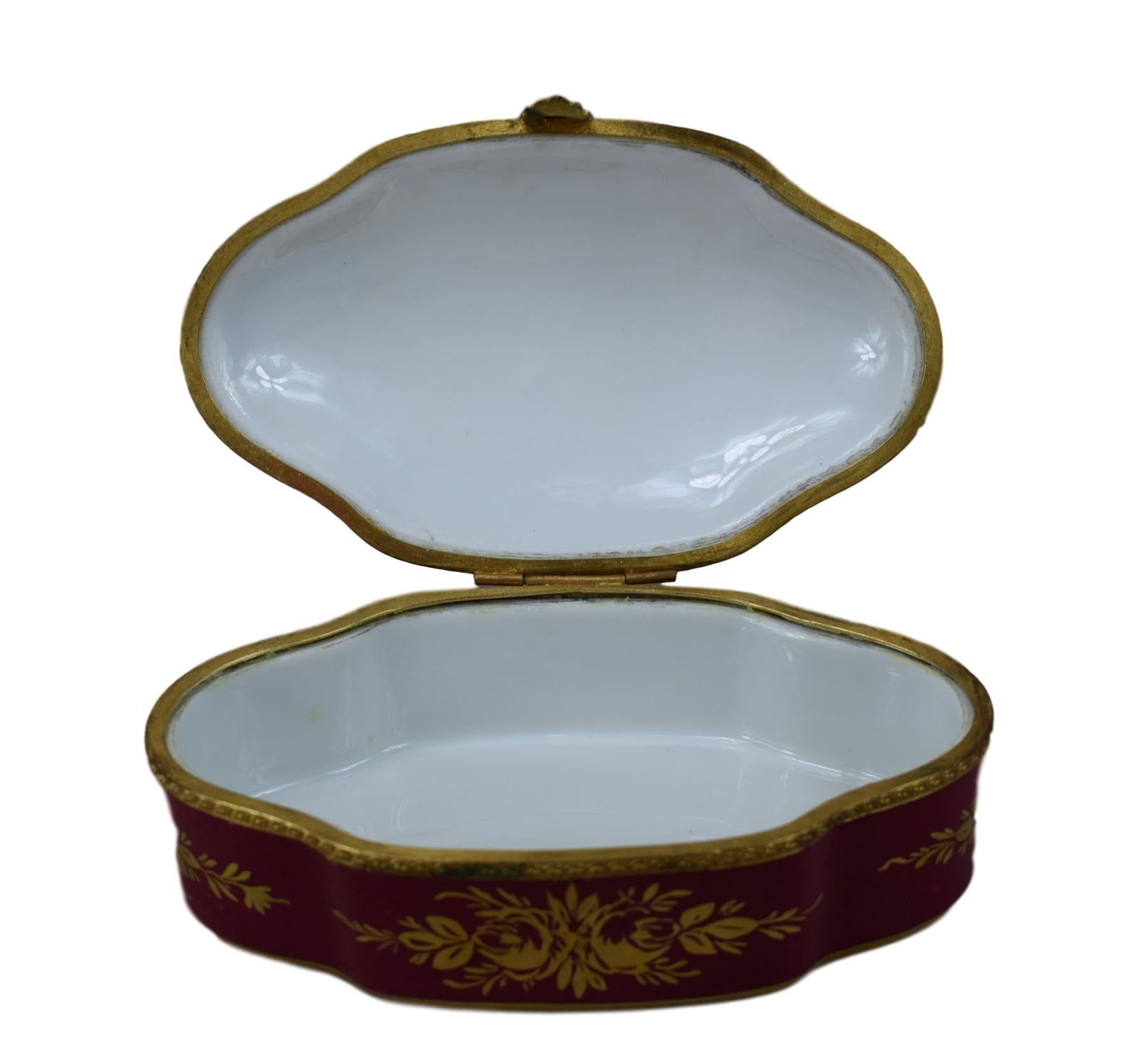 Porcelain Hinged Box - Charmantiques