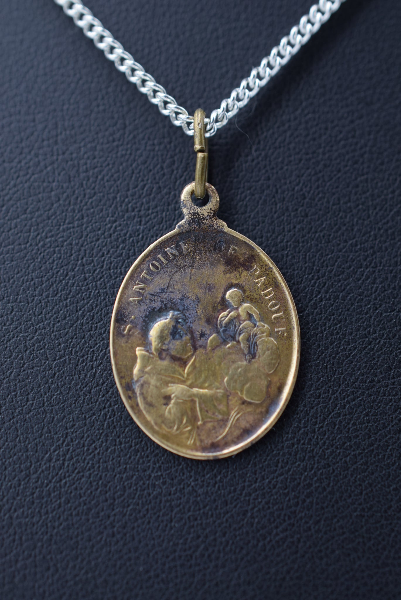 Saint Anthony of Padua and Saint Francis Of Assisi Pendant Medal