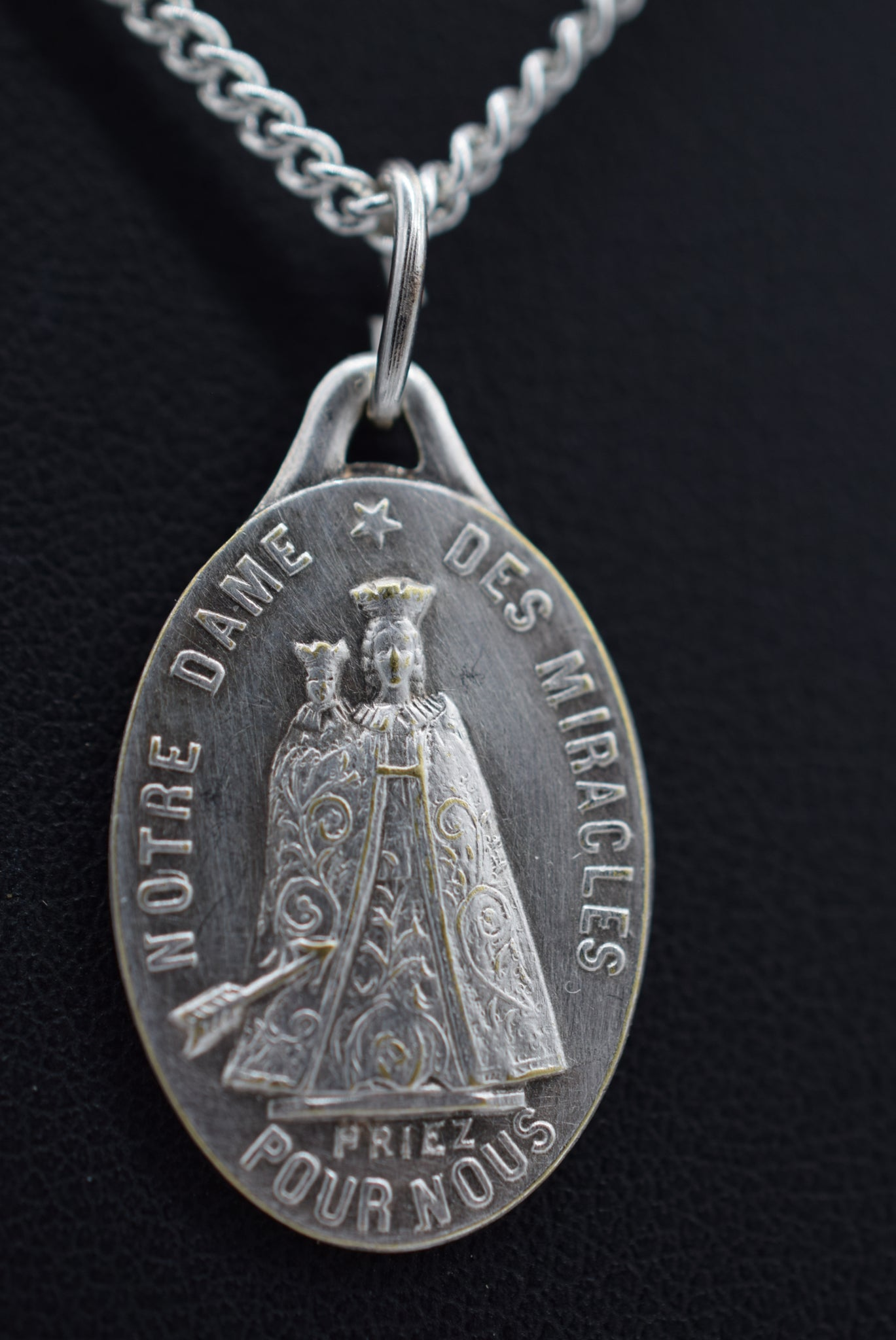 Our Lady of Miracles Medal Pendant