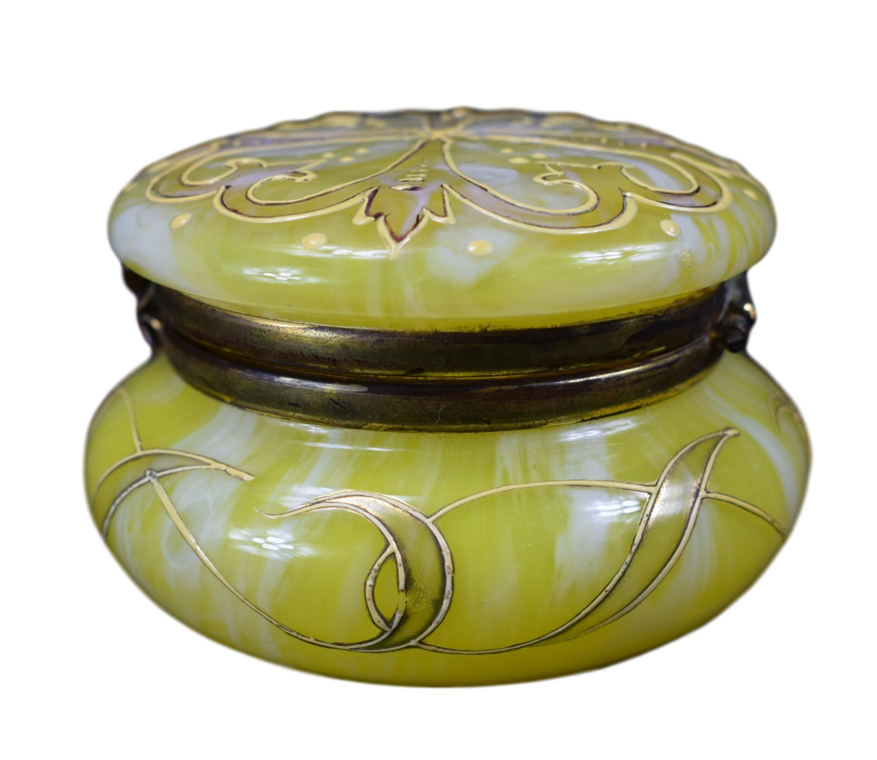 Clichy Yellow Hinged Box - Charmantiques