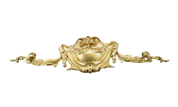 Antique French Gilt Bronze Pediment Hardware Mount