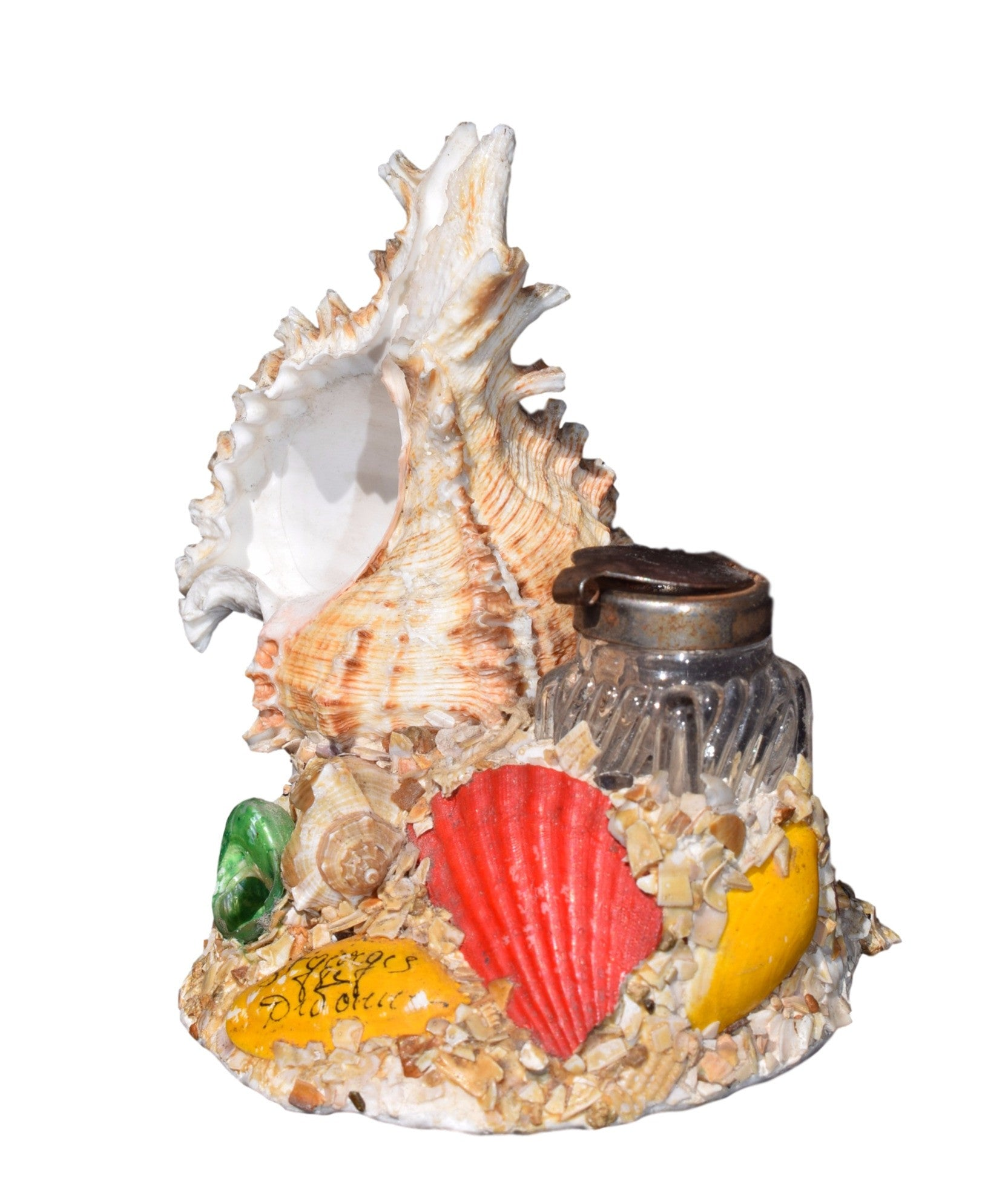 French Vintage Seashell Inkwell - Charmantiques