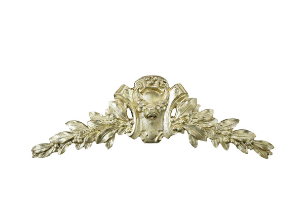 Antique French Louis XVI Gilt Bronze Pediment Hardware Mount