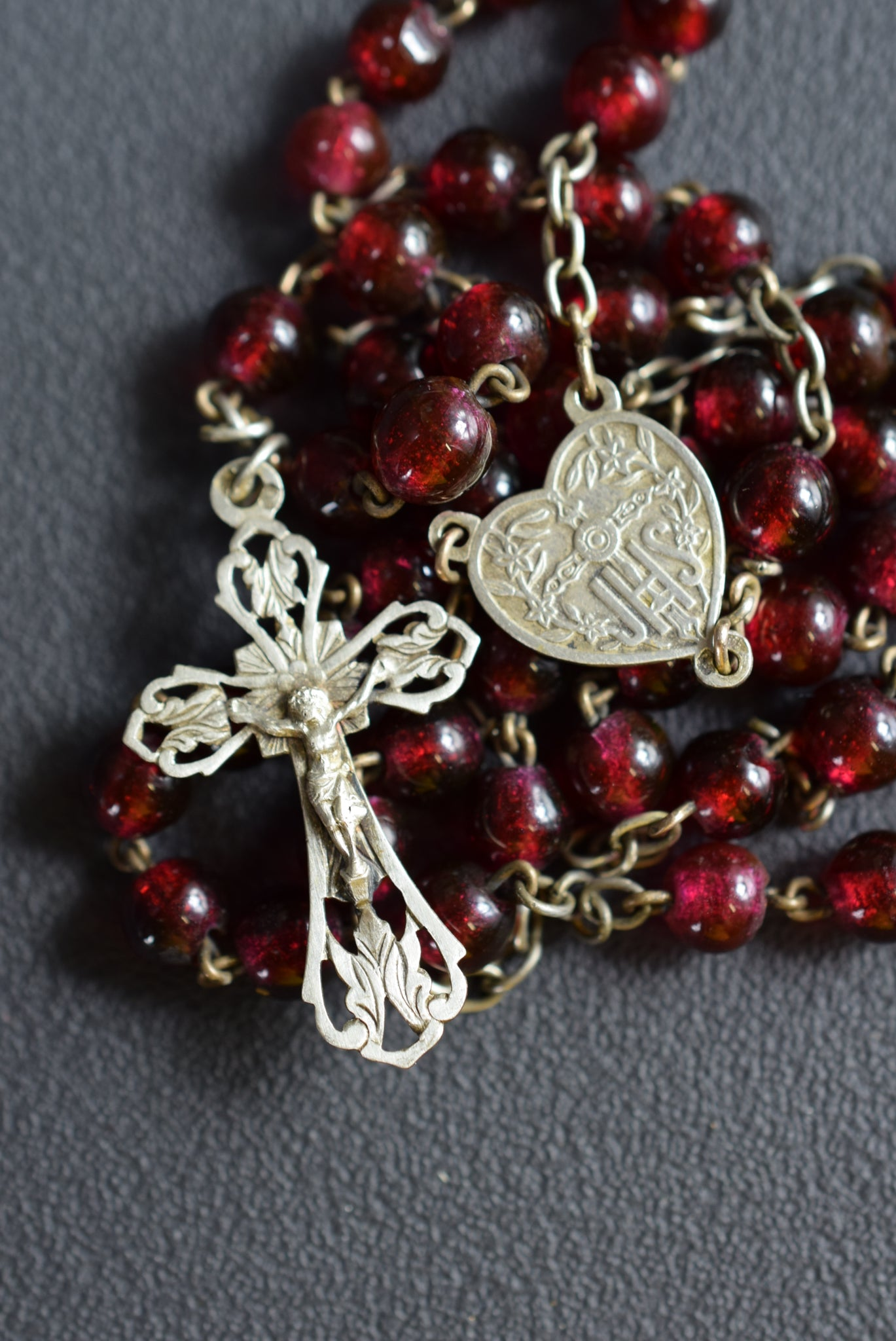 Red & Silver Rosary