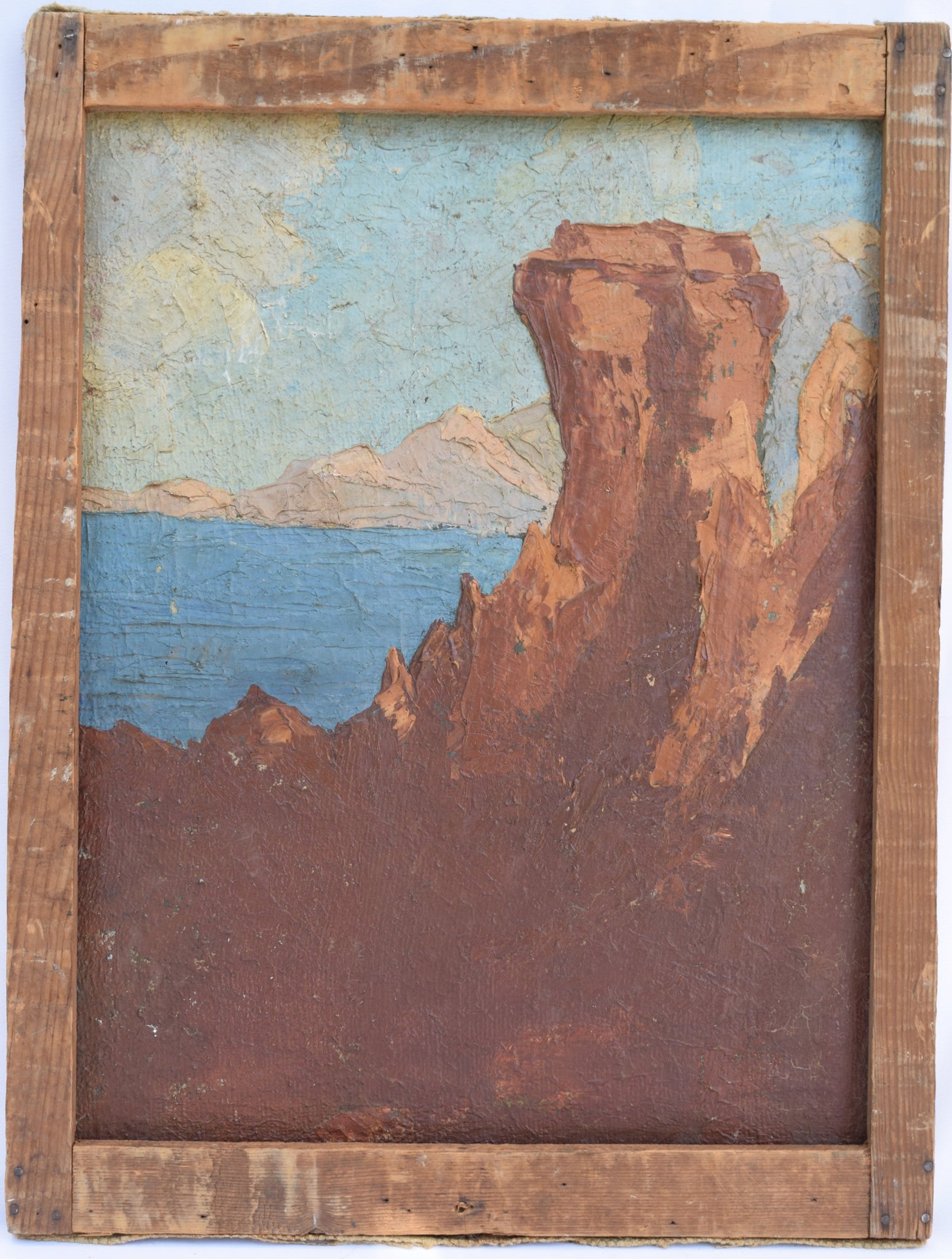 Italian Double Side Painting - Charmantiques