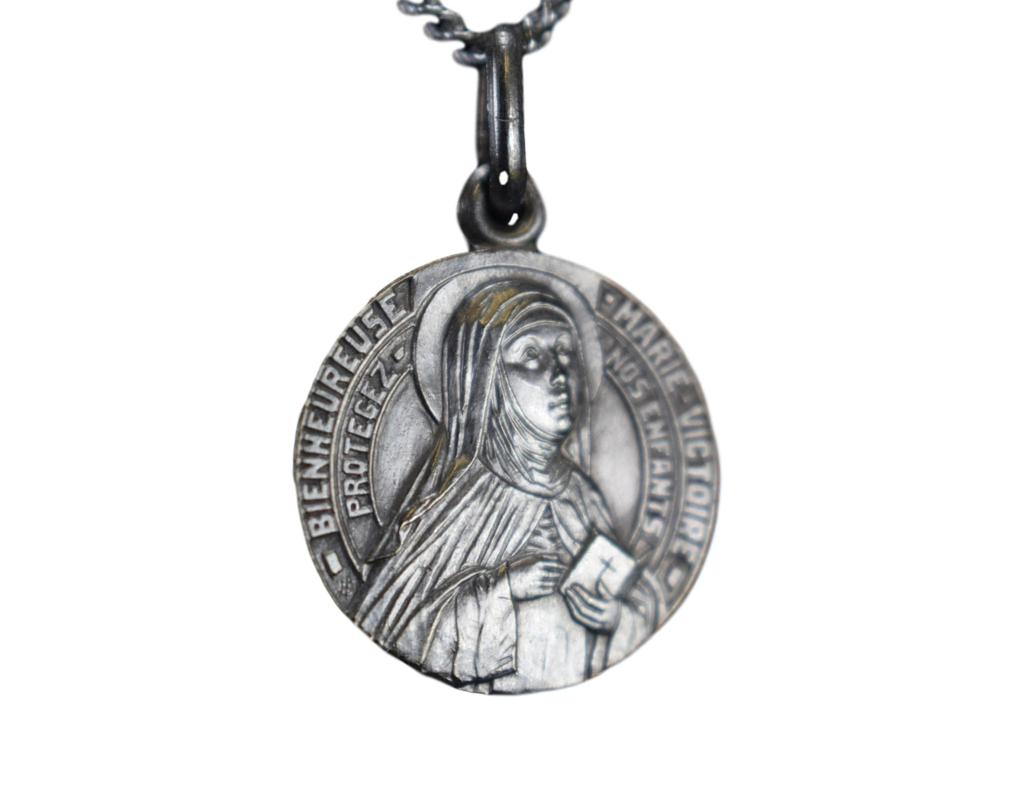 Blessed Marie Victoire Medal Child Protection Pendant - Charmantiques