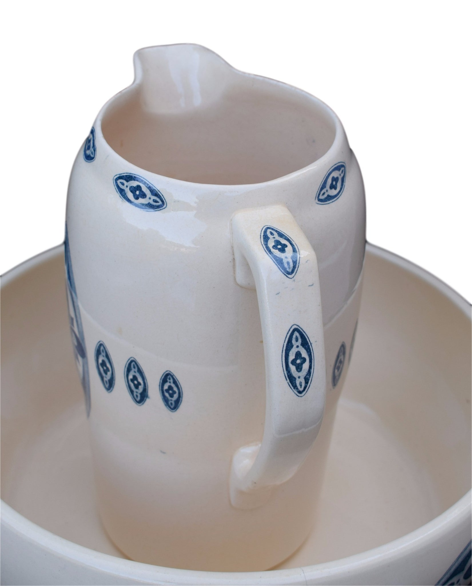 Pitcher and Wash Basin Set - Charmantiques