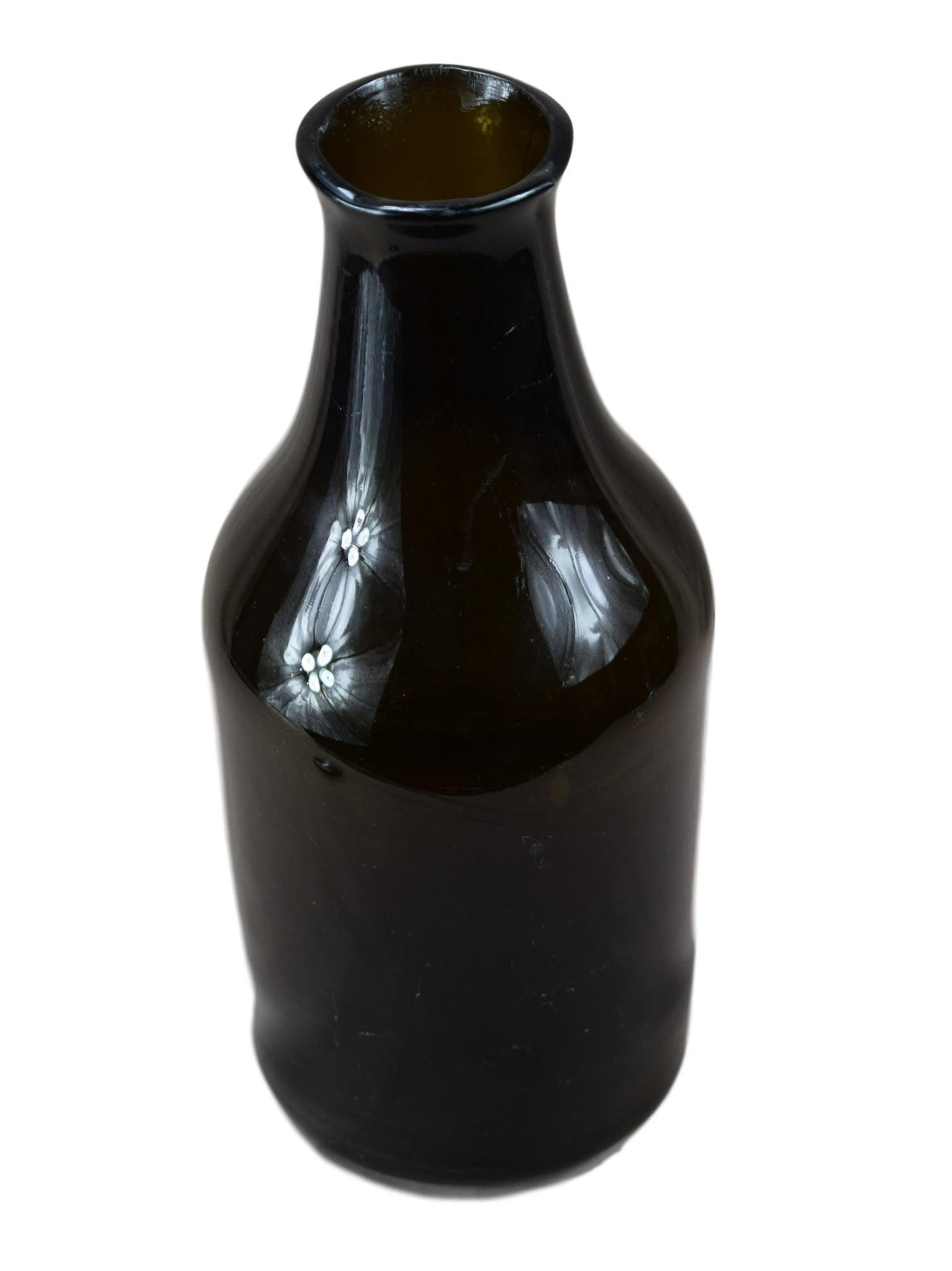 18th.C Blown Glass Bottle - Charmantiques