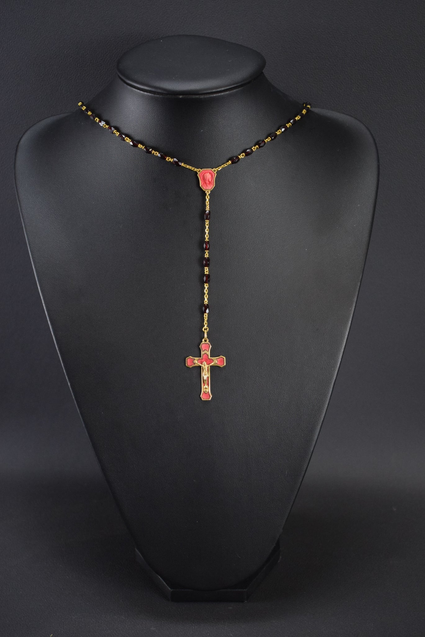 Red Enamel Rosary - Charmantiques