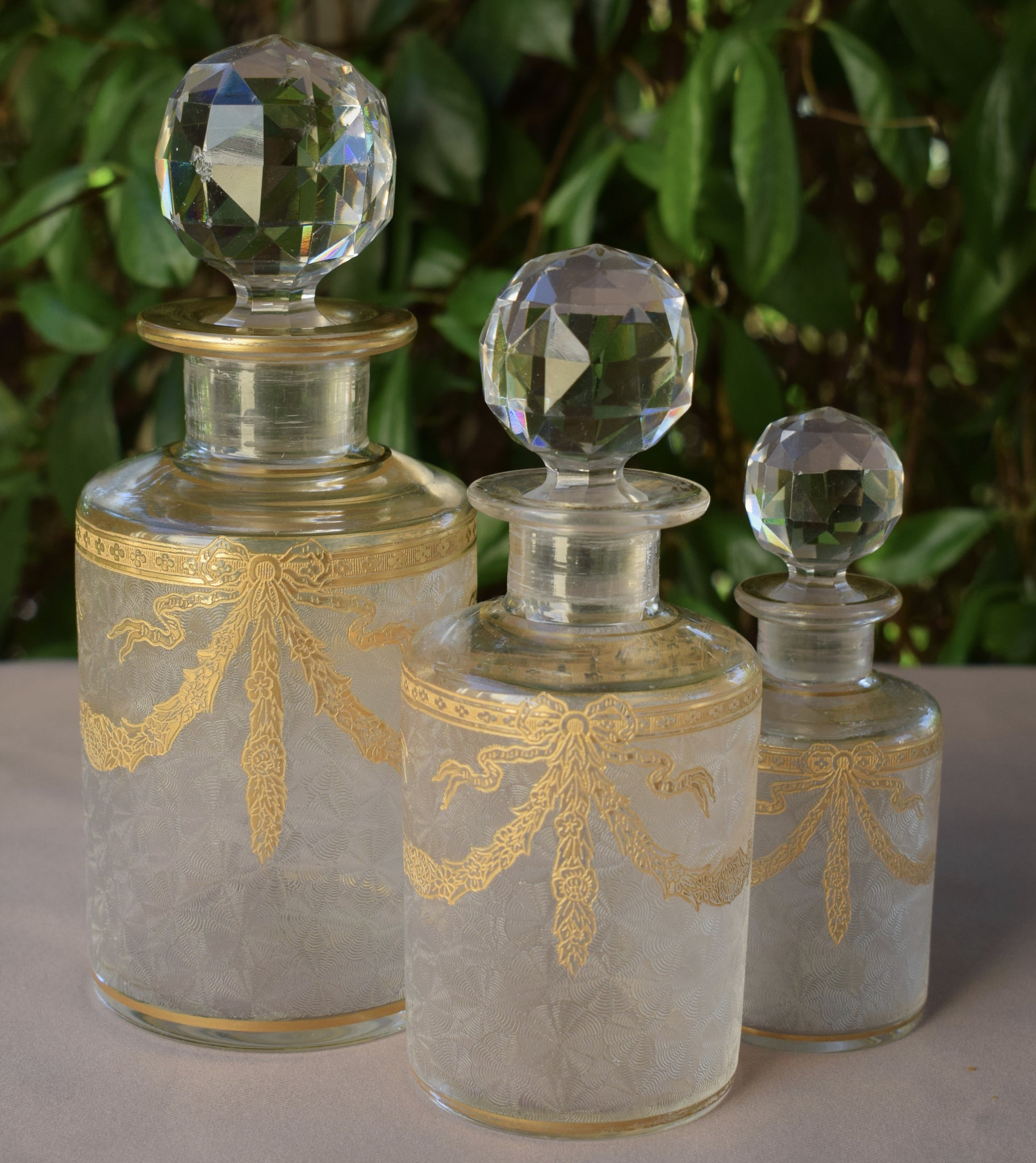 Set Baccarat Crystal Bottles - Charmantiques