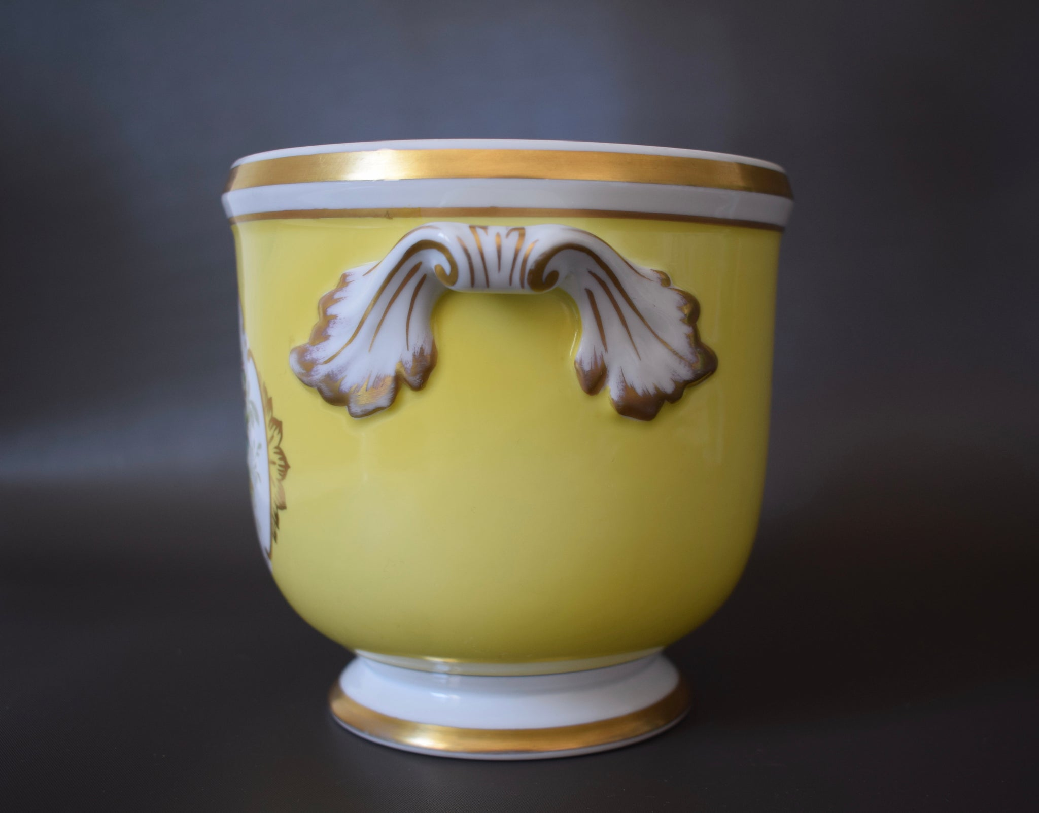 Yellow Cache Pot - Charmantiques