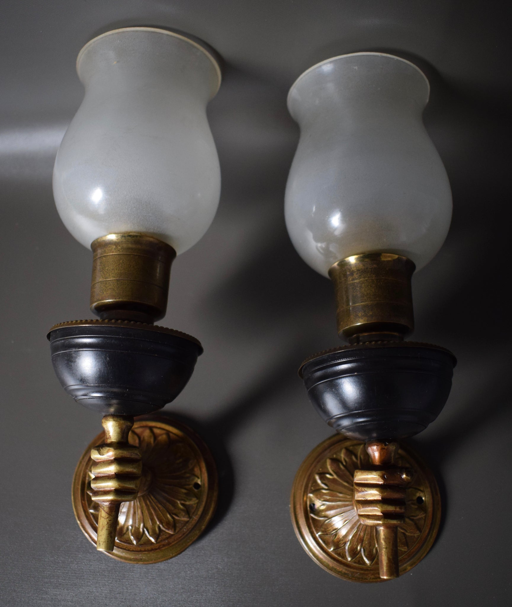 Pair of Hand Wall Sconces - Charmantiques