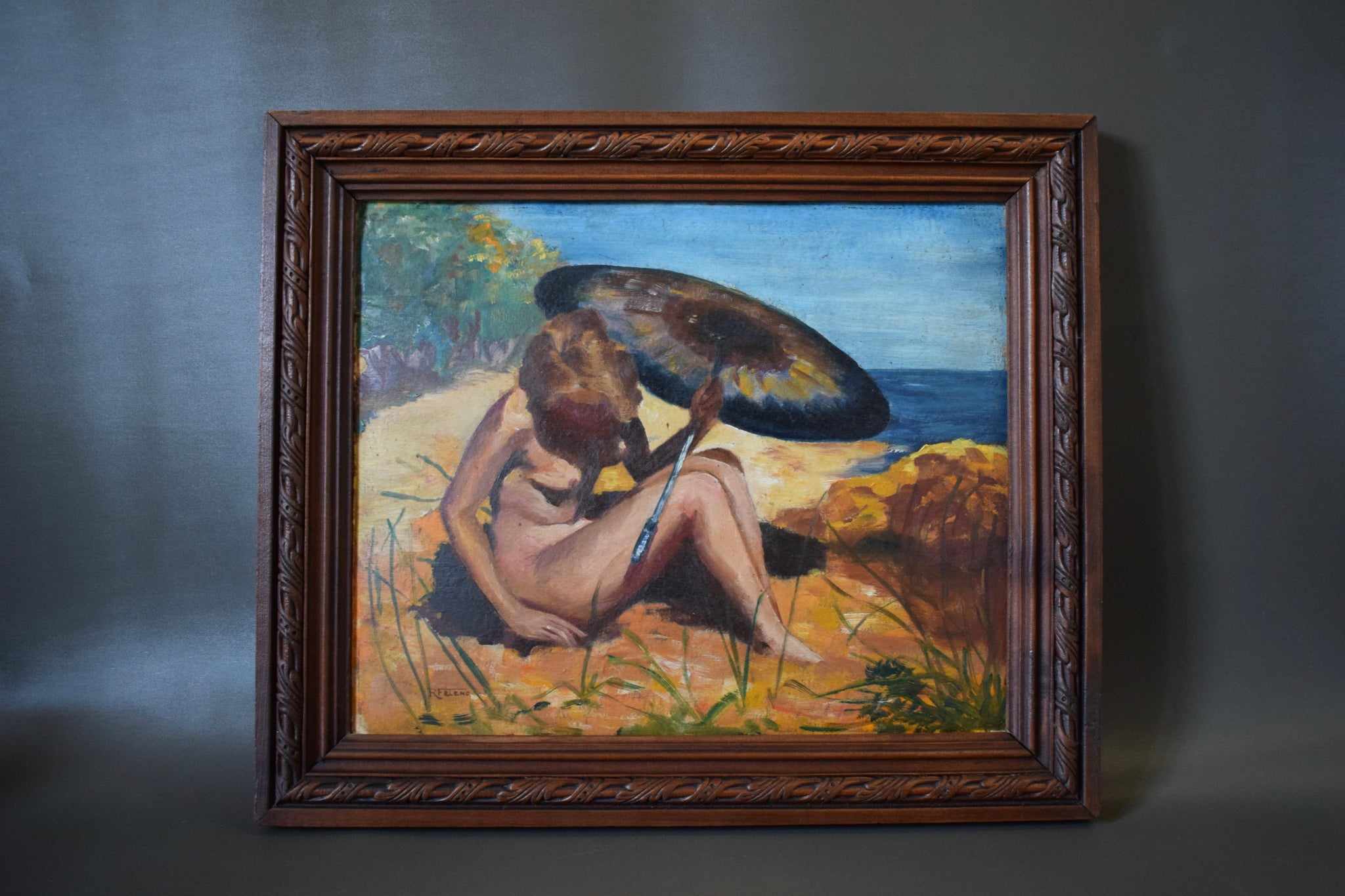 Bathing Nude Painting - Charmantiques