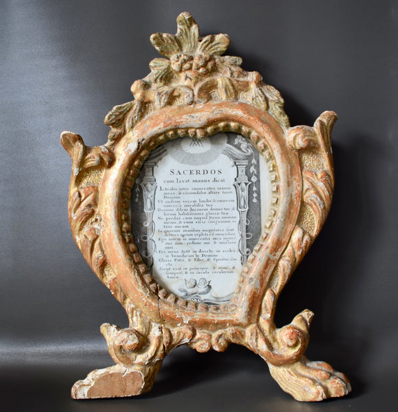 Carved Wood Photo Frame - Charmantiques