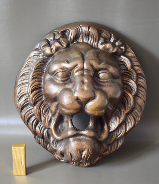 French Bronze Lion Head Garden Fountain Spout Decoration